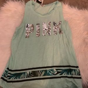 VS PINK Tropical Bling Tank